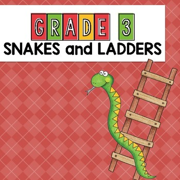 Grade 3 Sight Word Snakes and Ladders Game Dolch Words