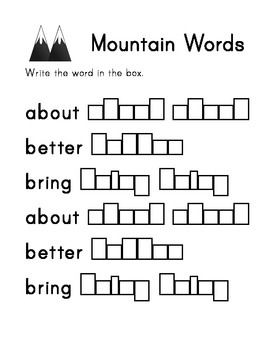Dolch Grade 3 Sight Word Workbook