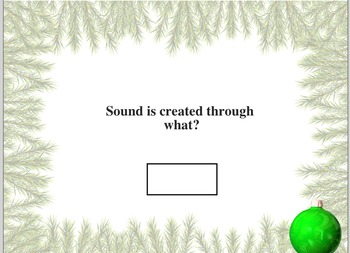 Grade 3 Smartboard Hearing and Sound Review Game
