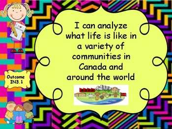 Grade 3 Social Studies  I Can Statement Posters and Teacher Checklist