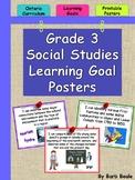 Grade 3 Social Studies Learning Goals Posters - Ontario Cu