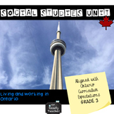 Grade 3 Social Studies Unit for Living and Working in Ontario