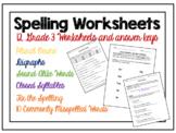 Grade 3 Spelling Worksheets (Digraph, Homophone, Plural no