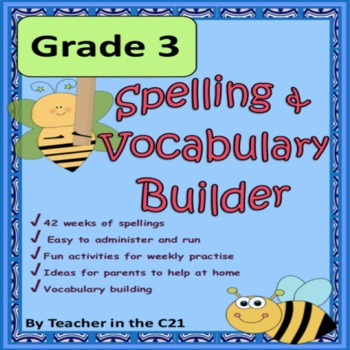Grade 3 – Spelling and Vocabulary Builder {Activities for 8 year olds}