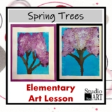 Grade 3 Spring Trees Painting Lesson