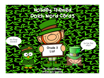 Grade 3 St. Patricks Day Dolch Word Game