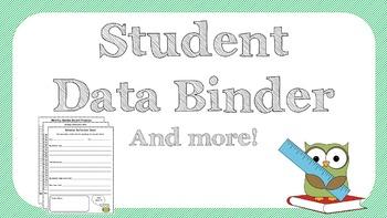 Grade 3 Student Data Binder