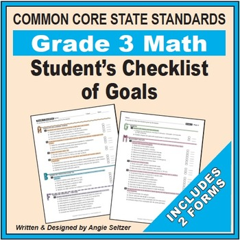 Grade 3 Student's 2-Page Checklist of Math Goals for CCSS