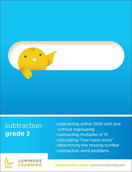 Grade 3 Subtraction Workbook: Making Math Visual