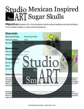 Grade 3 Sugar Skulls Sculpture Lesson