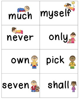 Grade 3 Super Sight Words Flash Cards & Word Wall Cards