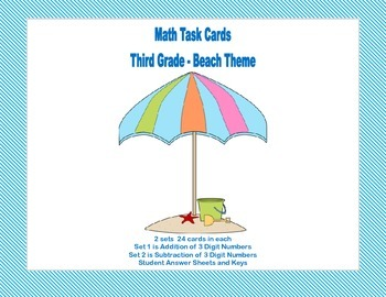 Grade 3 Task Cards-Adding and Subtracting 3 Digit Numbers