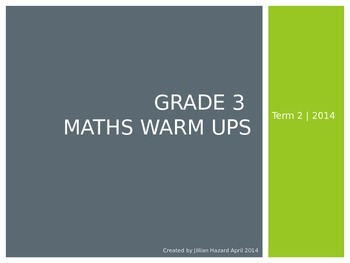 Grade 3 Term 2 Warm Ups
