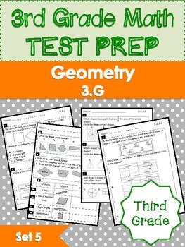 Grade 3 - Test Prep - Geometry - 3.G - FREEBIE