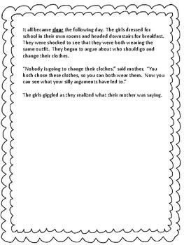 Grade 3 Test Prep Literature Analysis  Set 1