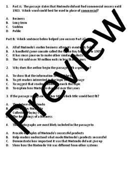 Grade 3 Test Prep Literature Analysis  Sets 1,2,3,and 4 Bundle