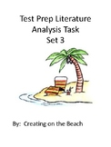 Grade 3 Test Prep Literature Analysis  Sets 1,2,3,and 4 Bundle