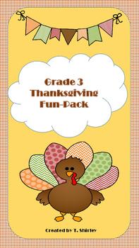 Grade 3 Thanksgiving Fun-Pack