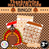 Grade 3 - Thanksgiving Multiplication Bingo