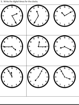 Grade 3 Time, Temperature and Calendar Assessment