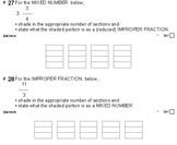 Grade 4 FRACTIONS UNIT 3: [MIXED/IMPROPER frac] (4 worksheets & 7 quizzes)