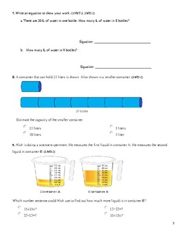 Grade 3 Unit 10: Standard Based Assessment geared towards Everyday Math Units
