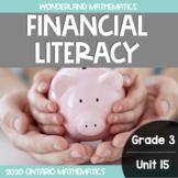 Grade 3, Unit 15: Financial Literacy (Wonderland Mathematics)