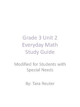 Grade 3 Unit 2 Everyday Math Study Guide