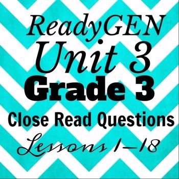 Grade 3 Unit 3 Module A Second Read/Close Read Questions for Homework