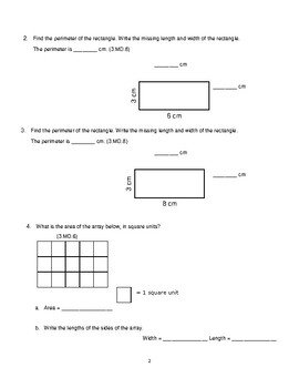 Grade 3 Unit 3: Standard Based Assessment geared towards Everyday Math Units