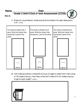 Grade 3 Unit 8: Standard Based Assessment geared towards Everyday Math Units