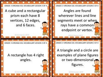 Grade 3 VIRGINIA SOL Math Review 3 of 4 GEOMETRY