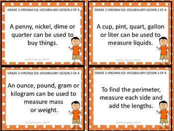 Grade 3 VIRGINIA SOL Math Review 2 of 4 MEASUREMENT