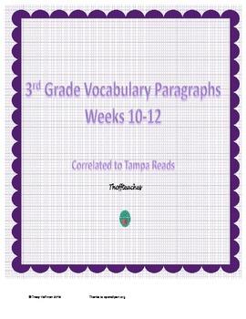 Grade 3 Vocabulary Weeks 10-12