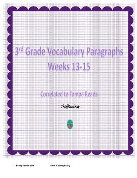Grade 3 Vocabulary Weeks 13-15