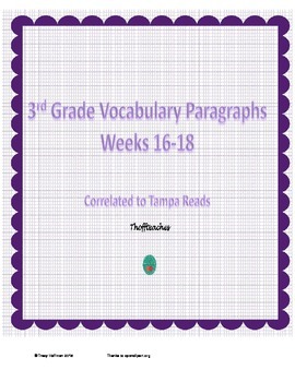 Grade 3 Vocabulary Weeks 16-18