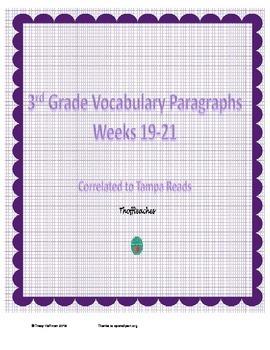 Grade 3 Vocabulary Weeks 19-21