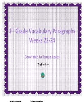 Grade 3 Vocabulary Weeks 22-24