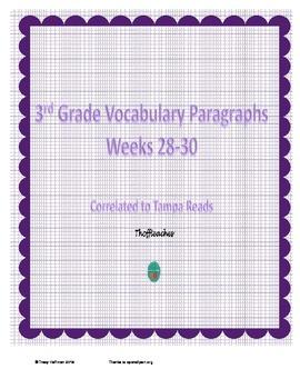 Grade 3 Vocabulary Weeks 28-30