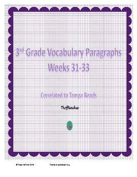 Grade 3 Vocabulary Weeks 31-33