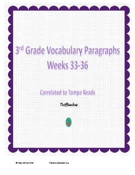 Grade 3 Vocabulary Weeks 33-36