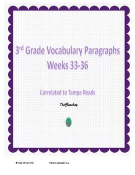 Grade 3 Vocabulary Weeks 33-36