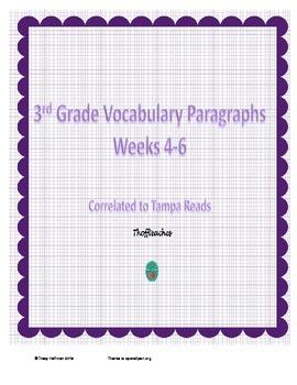 Grade 3 Vocabulary Weeks 4-6
