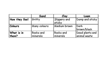 Grade 3 What is Soil? Chart (Science)