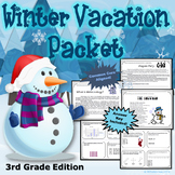 3rd Grade Winter Break Vacation Packet {CCSS Aligned}