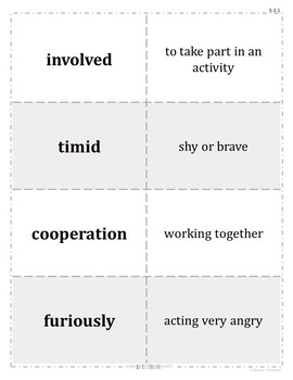 Grade 3 WonderWorks Unit 2 Weeks 1-5 Modified Vocabulary for Special Needs
