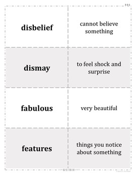 Grade 3 WonderWorks Unit 3 Weeks 1-5 Modified Vocabulary for Special Needs