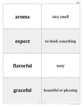Grade 3 WonderWorks Unit 4 Weeks 1-5 Modified Vocabulary for Special Needs