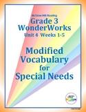 Grade 3 WonderWorks Unit 4 Weeks 1-5 Modified Vocabulary f