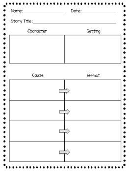 Grade 3 Wonders Character Setting Cause/Effect Graphic Organizer